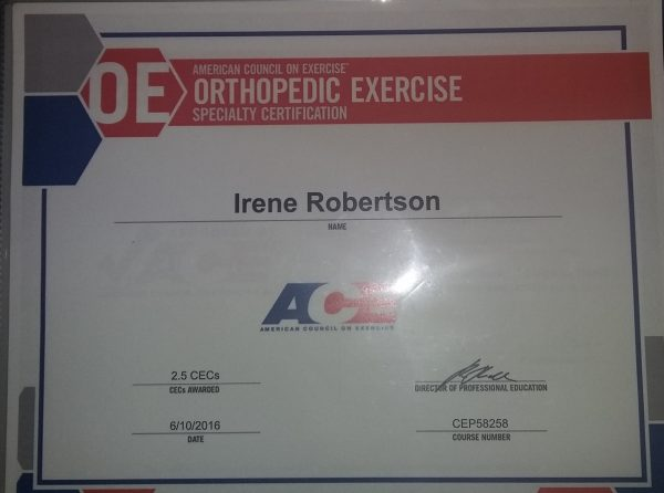 Orthopedic Exercise Specialist